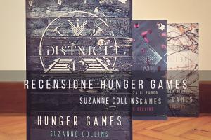 Immagine copertina libro Hunger Games vol.1 con gli altri due volumi sullo sfondo