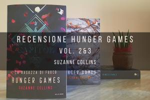 immagine raffigurante le copertine del libro 2 e 3 della saga hunger games