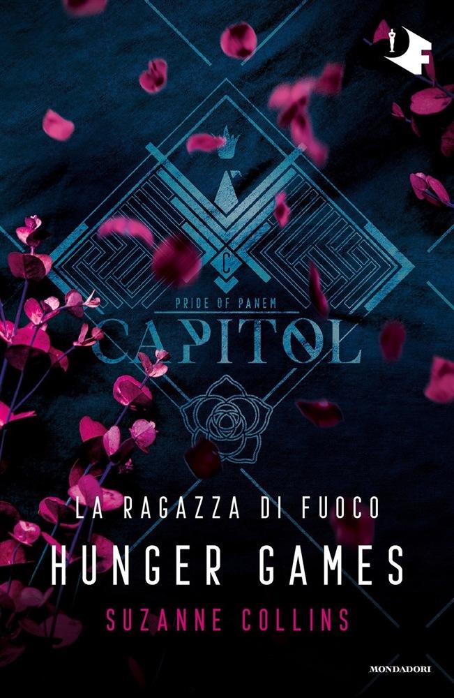 copertina libro Hunger games - la ragazza di fuoco, edito mondadori