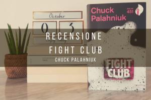 """immagine di copertina con il libro """"fight club"""""""